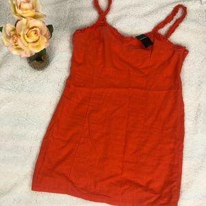 NWT Forever 21 Orange Dress Sz 1X